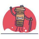 Αστεία πλαστική απεικόνιση φλυτζανιών παιδιών απεικόνιση αποθεμάτων
