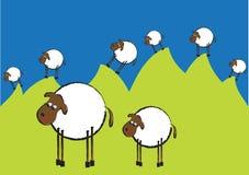 αστεία πρόβατα απεικόνιση& Στοκ φωτογραφία με δικαίωμα ελεύθερης χρήσης