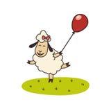 Αστεία πρόβατα τρεξίματος Στοκ φωτογραφία με δικαίωμα ελεύθερης χρήσης