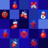 Αστεία πρόσκληση αφισών, κάλυψης ή κομμάτων με τα χειροποίητα δώρα και τα μπιχλιμπίδια Χριστουγέννων Σκίτσο για τις αυτοκόλλητες  ελεύθερη απεικόνιση δικαιώματος