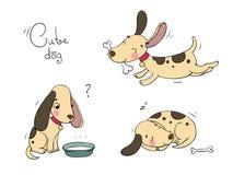 Αστεία σκυλιά κινούμενων σχεδίων Στοκ φωτογραφία με δικαίωμα ελεύθερης χρήσης