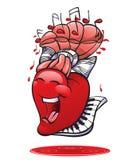 Αστεία συλλογή καρδιών Στοκ Εικόνες