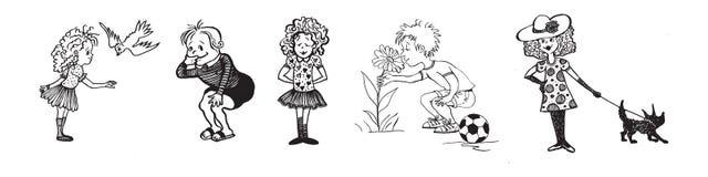 Αστεία συλλογή παιδιών Στοκ εικόνες με δικαίωμα ελεύθερης χρήσης