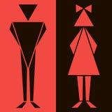 Αστεία σύμβολα χώρων ανάπαυσης WC Στοκ εικόνα με δικαίωμα ελεύθερης χρήσης