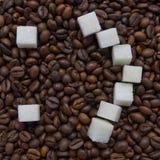 Αστεία σύνθεση της ζάχαρης υπό μορφή emoticon Στοκ Εικόνα