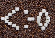 Αστεία σύνθεση της ζάχαρης υπό μορφή emoticon Στοκ εικόνα με δικαίωμα ελεύθερης χρήσης