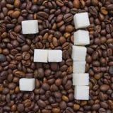 Αστεία σύνθεση της ζάχαρης υπό μορφή emoticon Στοκ εικόνες με δικαίωμα ελεύθερης χρήσης