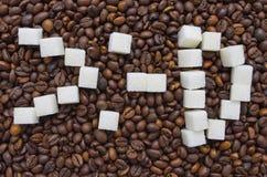 Αστεία σύνθεση της ζάχαρης υπό μορφή emoticon Στοκ φωτογραφία με δικαίωμα ελεύθερης χρήσης