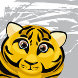 Αστεία τίγρη κινούμενων σχεδίων Ελεύθερη απεικόνιση δικαιώματος