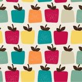 Αστεία τετραγωνικά μήλα ελεύθερη απεικόνιση δικαιώματος