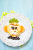 Αστεία τηγανίτα αποκριών πιθήκων χαμόγελου Στοκ Εικόνα