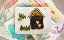 Αστεία τρόφιμα για τα παιδιά Στοκ Εικόνα