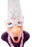 αστεία φθορά συμβαλλόμενων μερών μασκών ατόμων στοκ φωτογραφία με δικαίωμα ελεύθερης χρήσης