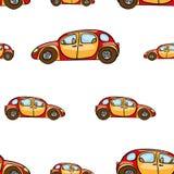Αστεία χαριτωμένη συρμένη χέρι μεταφορά παιχνιδιών παιδιών Διανυσματικό άνευ ραφής σχέδιο αυτοκινήτων κινούμενων σχεδίων μωρών φω Στοκ φωτογραφίες με δικαίωμα ελεύθερης χρήσης