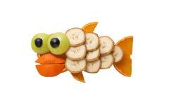 Αστεία ψάρια φιαγμένα από φρούτα στοκ εικόνα με δικαίωμα ελεύθερης χρήσης