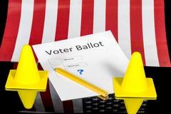 Αστεία ψήφος ψηφοφόρων με τις απελπισμένες επιλογές Στοκ Εικόνες