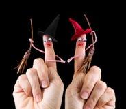 Αστείες μάγισσες αποκριών Στοκ φωτογραφίες με δικαίωμα ελεύθερης χρήσης
