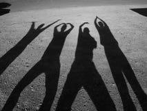 αστείες σκιές Στοκ Εικόνες