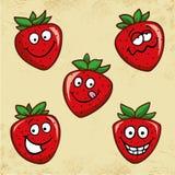 αστείες φράουλες Στοκ Εικόνες