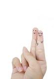 Αστείοι εραστές δάχτυλων Στοκ Φωτογραφία