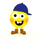 Αστείοι κίτρινοι τρισδιάστατοι χαρακτήρας/μασκότ Στοκ Φωτογραφίες