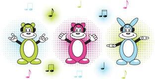 αστείοι μουσικοί Στοκ εικόνες με δικαίωμα ελεύθερης χρήσης