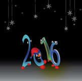 αστείοι χαιρετισμοί στις διακοπές του νέου έτους Στοκ Εικόνες