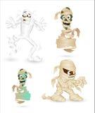 Αστείοι χαρακτήρες μουμιών κινούμενων σχεδίων διανυσματική απεικόνιση