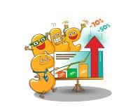 Αστείοι χαρακτήρες της πώλησης: επιστολές που παρουσιάζουν τις εκπτώσεις Διανυσματική απεικόνιση