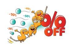Αστείοι χαρακτήρες της πώλησης: επιστολές στο σχοινί Απεικόνιση αποθεμάτων