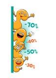 Αστείοι χαρακτήρες της πώλησης: επιστολές Διανυσματική απεικόνιση