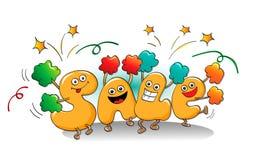 Αστείοι χαρακτήρες της πώλησης: lett ενεργώντας groupers μιας υποστήριξης Ελεύθερη απεικόνιση δικαιώματος
