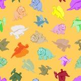 Αστείοι χρωματισμένοι δεινόσαυροι Στοκ Εικόνες