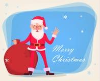 Αστείος Άγιος Βασίλης στα γυαλιά απεικόνιση αποθεμάτων