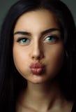 αστείος έφηβος κοριτσιών Στοκ φωτογραφία με δικαίωμα ελεύθερης χρήσης
