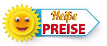 Αστείος ήλιος Heisse Preise Στοκ Εικόνες