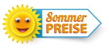 Αστείος ήλιος Sommer Preise Στοκ Φωτογραφίες