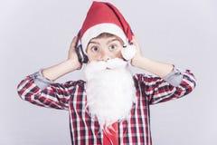 Αστείος λίγος Άγιος Βασίλης Στοκ φωτογραφία με δικαίωμα ελεύθερης χρήσης