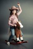 Αστείος λίγο cowgirl Στοκ Εικόνα