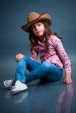 Αστείος λίγο cowgirl Στοκ Φωτογραφία