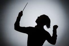 Αστείος αγωγός στη μουσική έννοια Στοκ φωτογραφία με δικαίωμα ελεύθερης χρήσης
