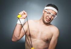 Αστείος αθλητής Στοκ εικόνα με δικαίωμα ελεύθερης χρήσης