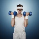 Αστείος αθλητισμός nerd στοκ εικόνες με δικαίωμα ελεύθερης χρήσης