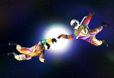 Αστείος αστροναύτης στο μακρινό διάστημα Στοκ φωτογραφίες με δικαίωμα ελεύθερης χρήσης