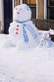αστείος γιος χιονανθρώπ στοκ φωτογραφία με δικαίωμα ελεύθερης χρήσης
