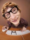 αστείος εργαζόμενος γρ& στοκ φωτογραφία με δικαίωμα ελεύθερης χρήσης