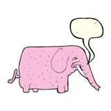 αστείος ελέφαντας κινούμενων σχεδίων με τη λεκτική φυσαλίδα Στοκ Εικόνες