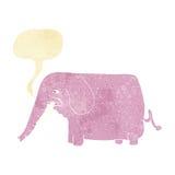 αστείος ελέφαντας κινούμενων σχεδίων με τη λεκτική φυσαλίδα Στοκ Εικόνα