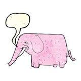 αστείος ελέφαντας κινούμενων σχεδίων με τη λεκτική φυσαλίδα Στοκ φωτογραφίες με δικαίωμα ελεύθερης χρήσης