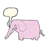 αστείος ελέφαντας κινούμενων σχεδίων με τη λεκτική φυσαλίδα Στοκ Φωτογραφία